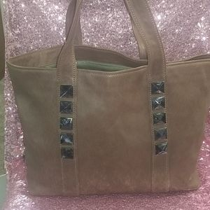 Marc Jacobs XL Tan Leather Rockstud Carter Tote